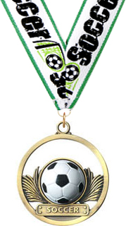 Soccer Rubber Game Ball Medal