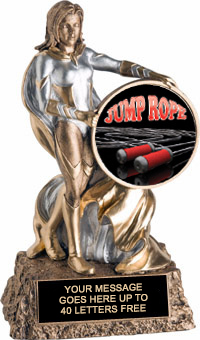 Victory Insert Holder Super Hero Resin Trophy