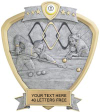 Billiards Sport Legend Shield Resin Trophy - Female