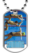 Swimming Dog Tags
