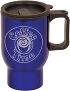 Laserable Travel Mug with Handle