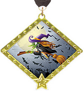 Halloween Diamond Star Insert Medal