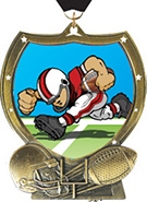 Football Shield Insert Medal