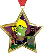 Star-Shaped Insert Medal