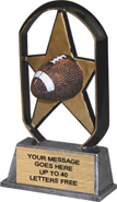Football EcoStar Resin Trophy