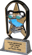 Swimming EcoStar Resin Trophy