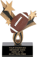 Football Ribbon Star Resin