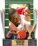 Football Painted Resin Photo Frame