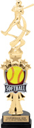 Softball Shooting Star Sport Riser Trophy