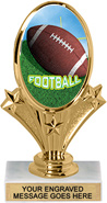 Oval-Shaped Color Insert Trophy