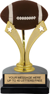 Football Triple Star Pedestal Trophy