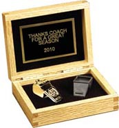 Coaches Gold Whistle Set