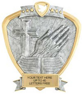 Religion Sport Legend Shield Resin Trophy
