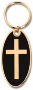 Colorful Brass Keychain- Cross