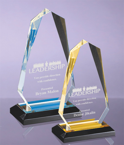 Multi-faceted Arrow Head Acrylic Awards