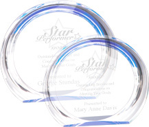 Blue Halo Round Acrylic Awards
