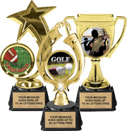 Color Insert Trophies on Synthetic Bases
