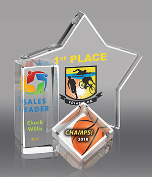 Custom Full Color Crystal Awards