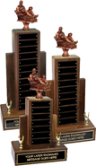 Fantasy Baseball Resin Empire Walnut Perpetual Trophies