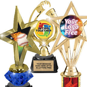 Color Insert Trophies - Stock or Custom