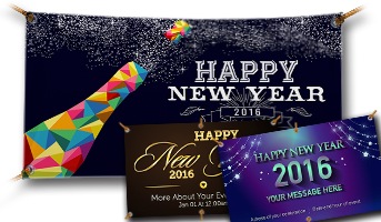 Vinyl New Year's Eve Banners