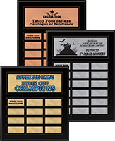 Matte Black Finish Perpetual Plaques