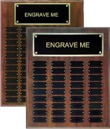 Walnut Finish Perpetual Plaques