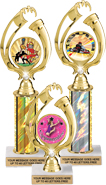 Blinged Victory Color Insert Holder Trophies
