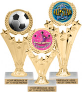 5 Star Wreath Color Insert Trophies