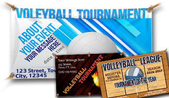 Vinyl Volleyball Banners