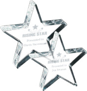 Free Standing Acrylic Star Awards - Engraved