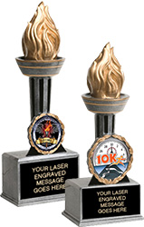 Victory Insert Torch Resin trophies
