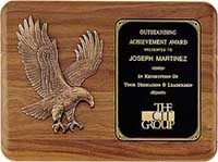 American Walnut Plaque with Bronze Eagle Casting