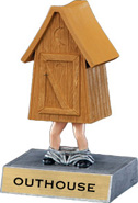 Outhouse Bobblehead 'Toon Resin Trophy