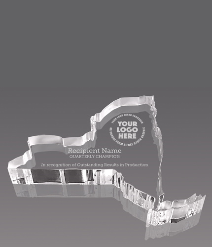New York Paperweight Acrylic Award- 4x5.25