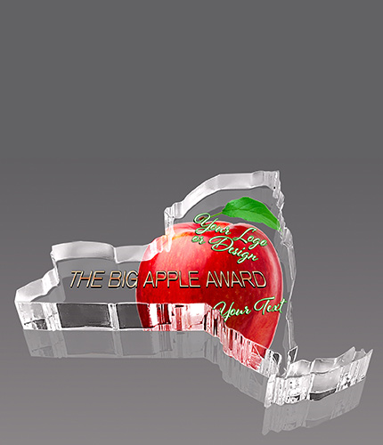 New York Full Color Paperweight Acrylic Award- 4x5.25