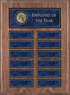 Walnut Veneer Perpetual Plaque with Magnetic Blue Plates