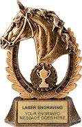 Champion Horse Resin Trophy