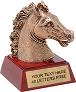 Horse / Mustang Mascot Resin Themes Trophy