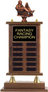 Fantasy Racing Walnut Finish Perpetual Trophy