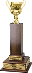 Gold Cup Triple Tier Perpetual Trophy