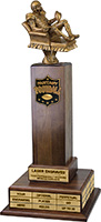 Fantasy Football Triple Tier Perpetual Trophy