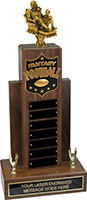 Fantasy Football Resin Empire Walnut Perpetual Trophy