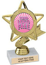Star & Pennant Custom Insert Trophy