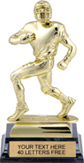 Football XL Bright Gold Tone Figure