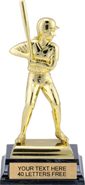 Softball Bright Gold Tone Figure