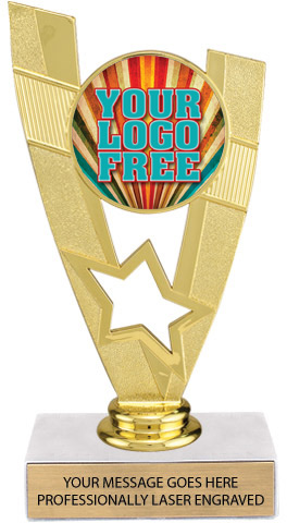 Custom Victory Star Color Insert Trophy