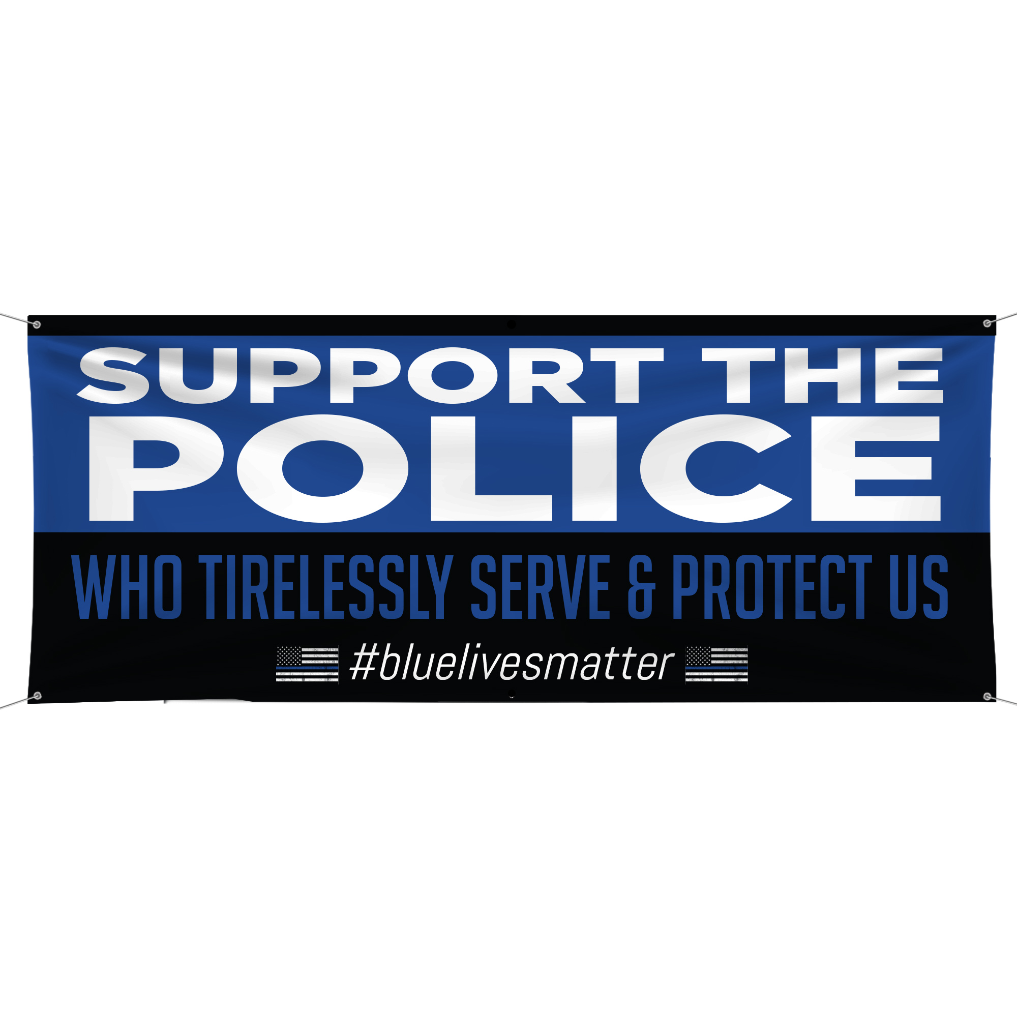 Support The Police Vinyl Banner