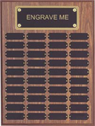 Walnut Finish Perpetual Plaque