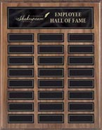 Walnut Veneer Perpetual Plaque with Magnetic Black Plates